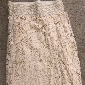 Cream floral skirt for sale!